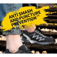 young fashion flywoven mesh upper safety shoes 909