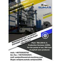 USED STATIONARY ASPHALT MIXING PLANT SUMAB ,,TBA-200-K/U,,