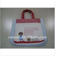 Animal printing Canvas Tote Bag with Outside Pocket thumbnail image