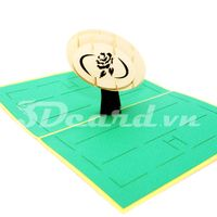 Rugby-Kirigami-Origamic-Laser cut-Paper cutting-Pop up-3D-Handmade-Birthday-Sport card