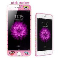 phone tempered glass film pink monkey