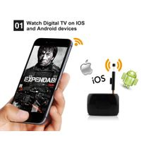 DVB-T/ISDB-T wireless HD digital TV receiver DTV Link, wifi box support live broadcast on android an