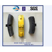 ZhongYue OEM High Phosphorous Cast Iron Brake Shoe For Wagon , High Friction
