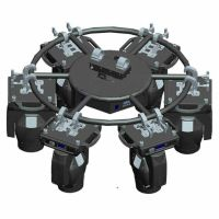 aluminium 6061 rotating circle truss dj party wedding effect for moving head light