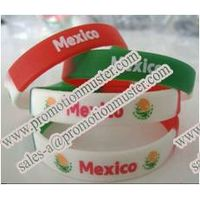 SR0013 Colorfilled custom silicone wristbands
