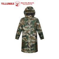 New style Reasonable price waterproof Long conjoined camouflage raincoat YM11R01