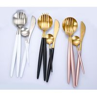 2018 New Trendy Pink Golden Color Stainless Steel Flatware Set