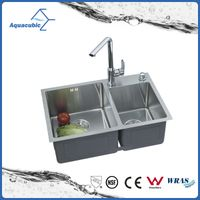 Above counter UPC stainless steel handmade kitchen Sink (ACS7243A2)