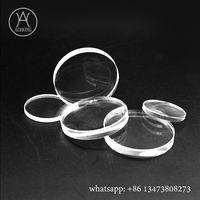 Tempered glass borosilicate round sight glass with polished edge thumbnail image