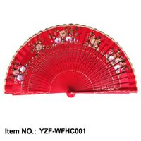 hand painted Spanish wood fan