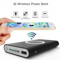 30000mAh Power Bank Qi Wireless Charger (iPhone X 8 Plus Samsung Note 8 S9 S8 Plus S7 Portable Power thumbnail image