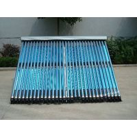 Heat pipe solar collector with evacuated tube
