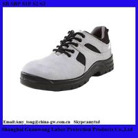 Cheap Leather Safety Shoes For Construction Workers/PU Injection Outsole