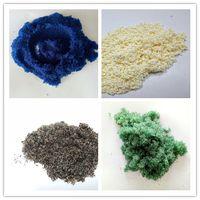 Boiler water softening resin