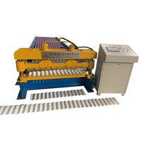 Steel corrugated metal roofing sheet making machine
