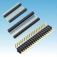 1.27mm pitch dual row straight Amphenol alternative pin header connector