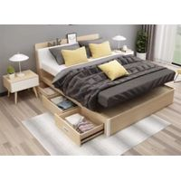 Modern bedroom furniture wood bed