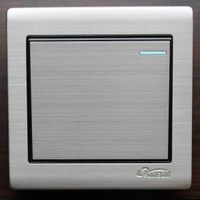 electric home wall switch 86 type flush stainless steel panel