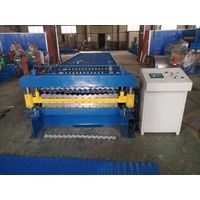 Double Layer corrugated trapezoidal Galvanized Color Steel roll forming machine