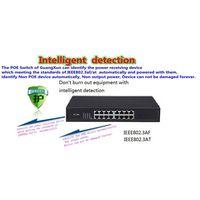 GXCOM TS6216P 10/100Mbps 16-Port PoE Switch with 16 POE 1U
