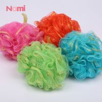 Real Net Bath Sponge Mesh Pouf Baby Bath Bathroom Loofah Bulk Body Sponge With Soap