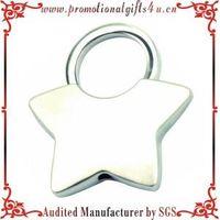 Silver Star Twist Lock Keychains