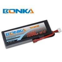 Bonka lipo battery 7200mah 7.4V 90C/180C 2S for rc car