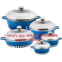 Dessini 10pcs marble coating soup pot set nonstick pan set thumbnail image