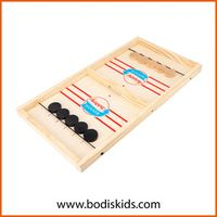 Two-in-One Parent-Child Interaction Wooden Collision Chess Set thumbnail image