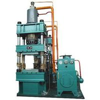 Special hydraulic press for friction material thumbnail image