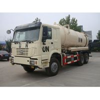 10m3 to 12m3 Full Driving 12 Wheel UN Sewage Tanker Truck with Self Dumping System thumbnail image