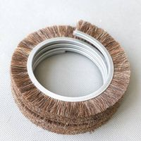 Open Wound Brush outside coil Rotary brush with horse hair filament