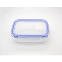 High borosilicate clear glass food storage containers