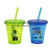 Single Wall Cup With Straw