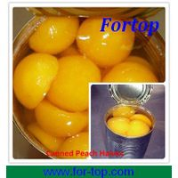 Canned Yellow Peach Fruit Halves in Syrup