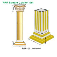 FRP square Roman Column color customized