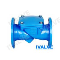 rubber flapper swing check valve flange end