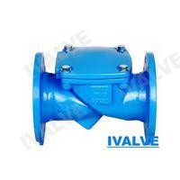 rubber flapper swing check valve flange end