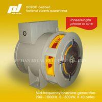 200-1000Hz 5-500kW 8-40poles Brushless Generator Alternator
