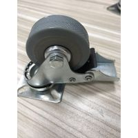 Industrial Grey Caster with Brake/Stopper 50mm Zinc Plated with Metal Tread Guard