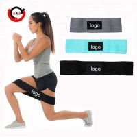Cotton fabric hip circle resistance bands for fitness