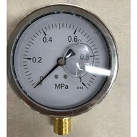 100mm 1Mpa Single Big Dial Bottom Connection Pressure Gauge