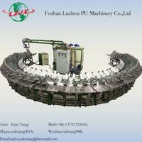 PU Pouring Leather Shoe Sole Making Machine