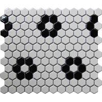 White and black Hexagon ceramic mosaics thumbnail image