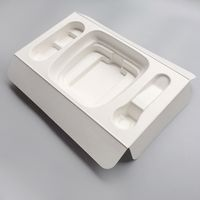 Fine electronic molded wet pressed packaging product packing pulp bagasse tray