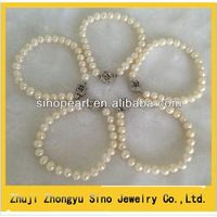 Latest design China jewelry Fine quaity pearl bracelets with flower clasp thumbnail image