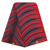 Textile fabric printing 6 yards changyi wax print african dresses polyester fabrics