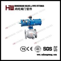 Competitive Price Stainless Steel CF8 Flange Pneumatic Ball Valve thumbnail image