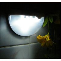 Solar Light Wall Lamp Waterproof Garden Outdoor Landscape Lawn Lamp 6LED Fence Gutter Solar Lobby Pa