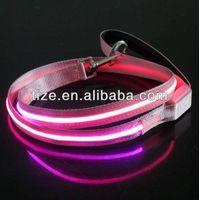 Hot Bright lighted single line flashing pet leash TZ-PET 5006 pet dog flexible leash thumbnail image